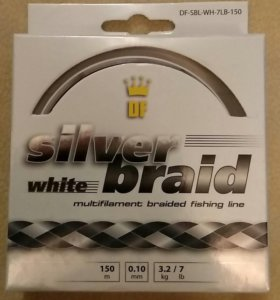 Леска плетеная DreamFish Silver Braid white 0.10мм