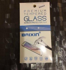 Защитное стекло на Iphone 5,5с,5se