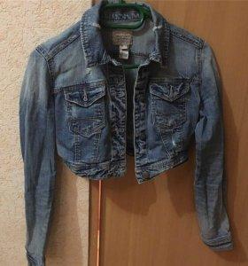 Джинсовая куртка, джинсовка короткая