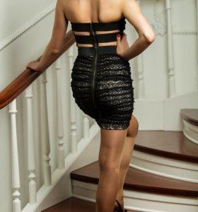 Новое платье с молнией на спине