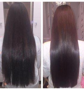 Кератиновое восстановление,лечение и маникюр волос