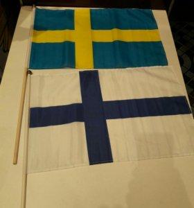 2 новых флага Финляндия и Швеция.