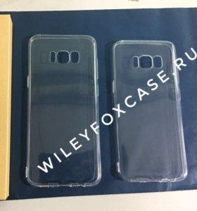 Samsung Galaxy s8 прозрачный силиконовый чехол