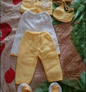 Продам теплый детский костюмчик 6 предметов новый