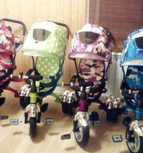 Трёхколёсные велосипеды на надувных колёсах
