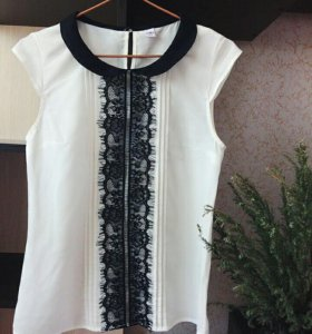 Блуза zolla с кружевом