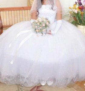 Свадебное платье в очень хорошем состоянии
