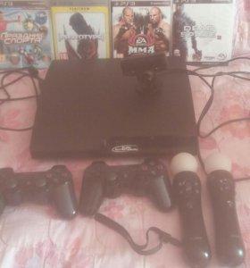 Продаю PS3 slim 500 гб