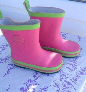 Резиновые сапоги для девочек новые
