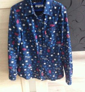 Рубашка джинсовая р. 42