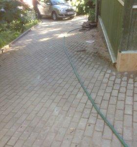Укладка тротупрные плиты