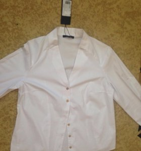 XL размер. Новая стильная белая рубашка