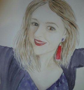 Портрет по фото, роспись стен