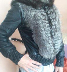 Куртка кожаная жннская
