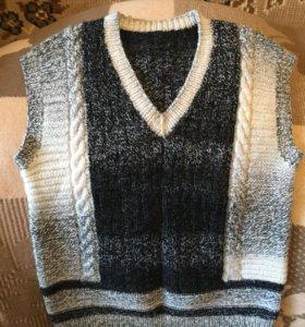 Вязаные жилеточки и свитера