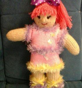 Кукла вязаная, ручной работы