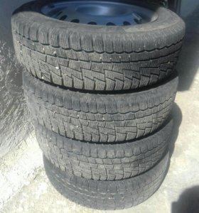 Зимние шины с дисками R14.кордиан.