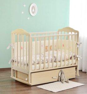 Кроватка Детская Березка с матрасом