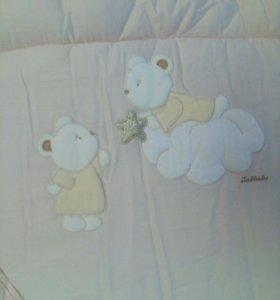 Бортик в кроватку для принцессы