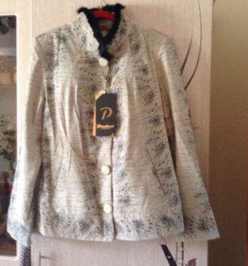 Куртка пиджак натуральная кожа 50 р