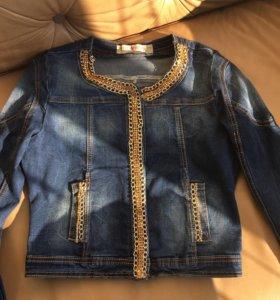 Джинсовый пиджак новый