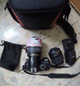 Продам Nikon d3000+ объектив,вспышка,сумка