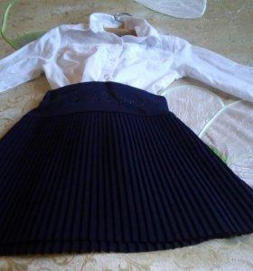 Школьная блуска и юбка