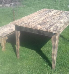 Стол из дерева, размер 120×75