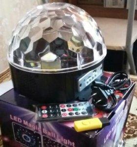 Новый светодиодный диско-шар с bluetooh модулем.