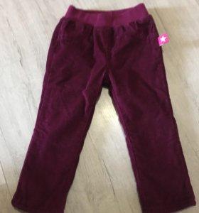 Новые Вельветовые брюки 9-12