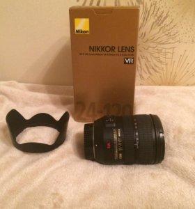 Объектив Nikkor af-s vr Zoom 24-120 3.5-5.6g
