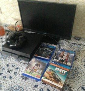PS4 500gb 2 джойстика . Гта5 и игры на фото