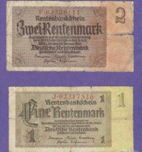 Германские Рентенмарки 1937 года