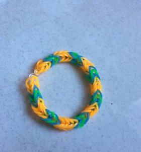 Плетёные браслеты-резиночки