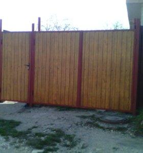 Заборы, навесы, ворота, калитки и прочее
