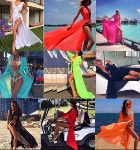 Пляжные туники платья