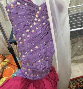 Дизайнерское платье камни  сваровски