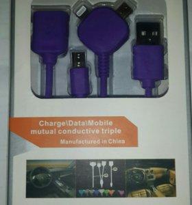 Кабель OTG iPhone 6 Lightning/microUSB