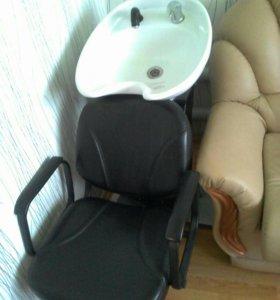 Кресло- мойка и зеркала