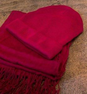 Шапка шарф палантин
