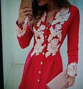 Платье-рубашка р.44-46 или 46 новое