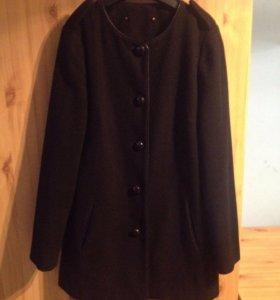 Пальто чёрное mango