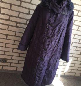 Удлинённая куртка-пальто