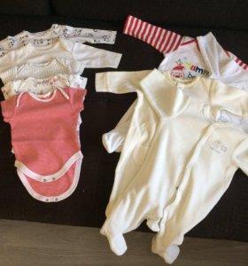 пакет детский вещей от 0-3 месяцев