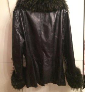 Кожаная куртка Осень🍂