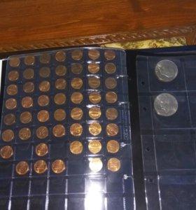 2 альбома монет