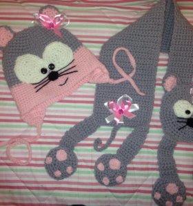 Комплект шапка и шарф новые р ...