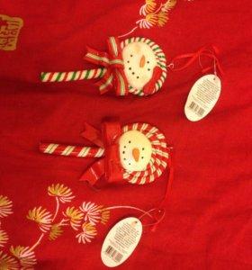 Ёлочные игрушки / новогодние сувениры, 2 шт