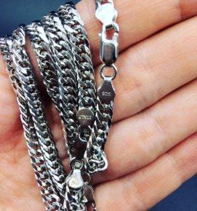Серебряная цепь. Серебро 925 пробы.