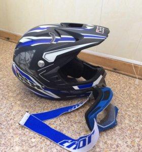 IXS Кроссовый шлем HX276 Fame blue